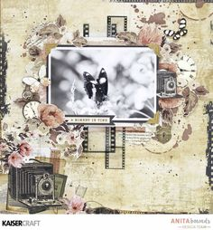 Highlight those special Captured moments with a layout featuring this double sided paper from the Keepsake Collection by Kaisercraft! Scrapbooking Layouts Vintage, Heritage Scrapbooking, Vintage Scrapbook, Scrapbook Page Layouts, Digital Scrapbooking, Love Scrapbook, Scrapbook Albums, Scrapbook Cards, Scrapbook Cover