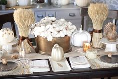 We have a bunch of gorgeous Thanksgiving table ideas from talented bloggers who take the time to create these tablescapes, (on a budget!) and share them!