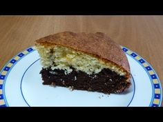 BIZCOCHO BICOLOR DE CHOCOLATE Y COCO - YouTube