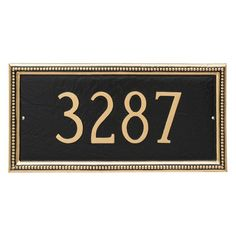 Montague Metal Verona Rectangle Address Sign Wall Plaque - PCS-0075S1-W-ACC