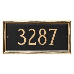 Montague Metal Verona Rectangle Address Sign Wall Plaque - PCS-0075S1-W-HGS