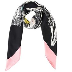 83952efb584 Gucci Cats Guccy Scarf ($430) ❤ liked on Polyvore featuring accessories,  scarves, gucci shawl, silk shawl, print scarves, logo scarves and patterned  ...