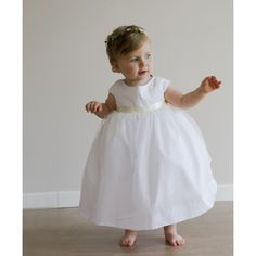 How cute is the Anna dress ? designer baby girl clothes - bay bridesmaid dress by French royal designer littleeglantine.com