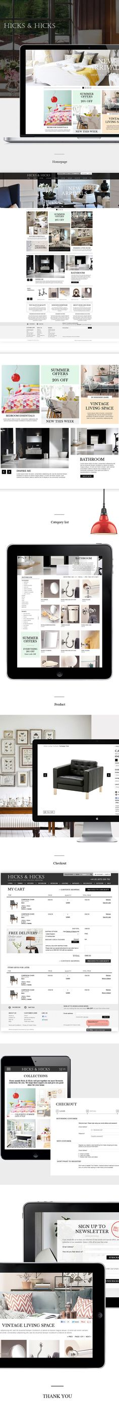 Hicks and Hicks by Ge Song, via Behance --- I'm beginning to worry that my #design taste is getting too narrow... modern minimalist clean... but what if someone wants a different style? #designthinking