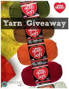 Enter to win 10 skeins of yarn from Red Heart Yarns and The Crochet Cafe!
