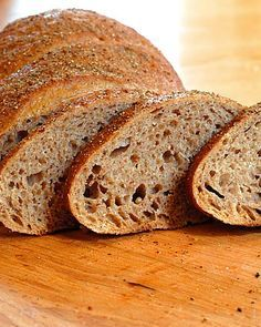 Swedish limpa. We used the recipe from the book to make both bread and bread pudding with this sweet spiced rye bread.