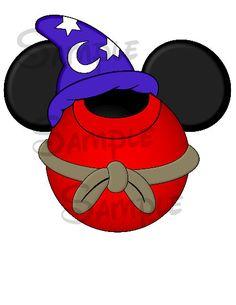 Hechicero Mickey inspiró DIGITALES SwirlyColorPixels porciones imprimibles