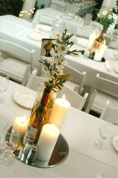 perfect centerpieces for my laid back wedding....plus a few mason jars thrown in there