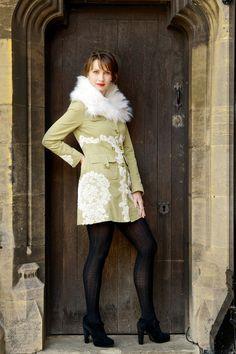 Magnificent Green Coat Size: 10 Model: Yvonne Baum Photography: PixBeat Photo