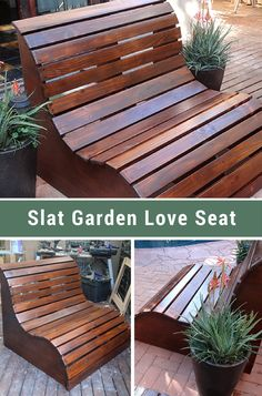 Slat Garden Love Seat - Will THIS be the outdoor seating craze of summer 2017?