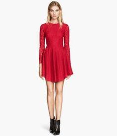 Red circle dress