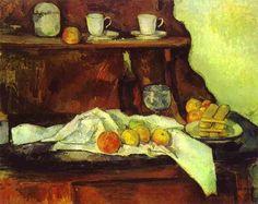 A Buffet by Paul Cézanne 1873-1877