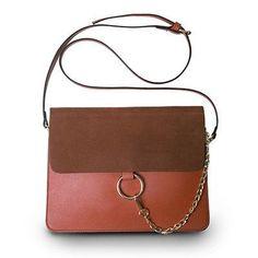 Designer Brand Women Messenger Shoulder Bags with Metal Ring Chain