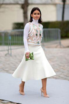 Paris Fashion Week, Fall/Winter 2014-2015 - outfit - streetstyle - Miroslava Duma