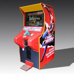 Time Crisis is a light gun shooter arcade game released by Namco in It was later ported for the PlayStation in bundled with the Guncon light gun controller. Corner Bench Dining Table, Dining Chairs, Contemporary Games, Retro Arcade Machine, Luxury Gifts For Men, Raised Patio, Retro Videos, Vintage Games, Living Room Lighting