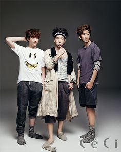 Sandeul, Baro, and Gong Chan - Ceci Magazine April Issue '14