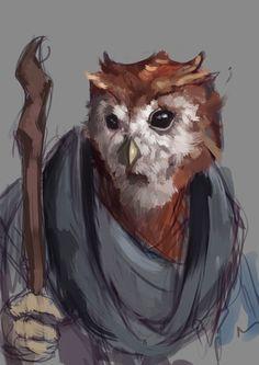 Sketch #161 Aarakocra Druid by Olieart.deviantart.com on @DeviantArt