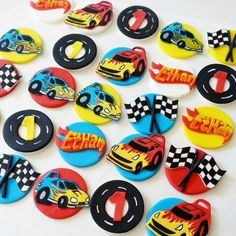 Cars fondant cupcake toppers by DsCustomToppers on Etsy