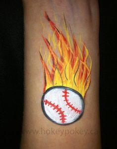 Diy Baseball Face Paint Base Cheekart Sports Facepainting Birthdays