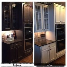Amy Howard at Home Before & After Kitchen cabinets - Luxe Grey One Step Paint
