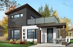 Tiny home plans you can use to build your own home. Read more here! Contemporary Style Homes, Contemporary House Plans, Modern House Plans, Contemporary Design, Modern Home Exteriors, Beautiful Modern Homes, Modern Tiny House, Modern House Design, 2 Story House Design
