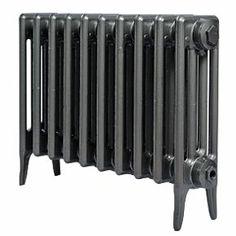 Cast Iron 460 Designer Radiator 4-Column Anthracite H: 460 x W: 645mm