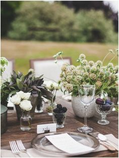 sage table setting wedding - Google Search
