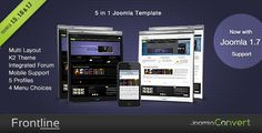 Frontline - A Clean Professional Joomla Template.