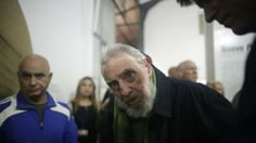 Fidel Castro appears in public, 1st time in months got to go to those art shows ; p