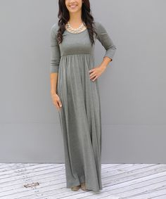 Look at this Gray Maxi Dress on #zulily today!