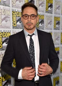 """Robert Downey Jr. at San Diego Comic Con 2014 for the Marvel """"Avengers: Age of Ultron"""" panel and press."""