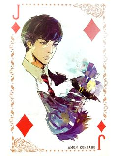 Tokyo Ghoul: Premium Trump - Amon Koutarou Jack of Diamonds tarot meaning meta ♦ edited from pic by hiro