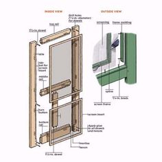 A screen door made from wood is the most elegant choice for keeping out unwelcome guests. We show you how to build your own. | Illustrations: Gregory Nemec | thisoldhouse.com