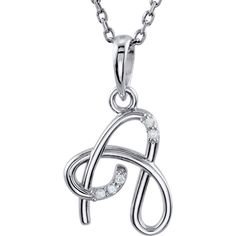 JewelryWeb Sterling Silver Fashion Script Initial Necklace J 16 Inch YOoCswq