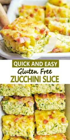 Easy healthy Zucchini Slice that is Gluten free! This oven baked slice is perfect for breakfast, lunch or dinner. It is freezer friendly and is a great lunch box option. #zucchinirecipes #lunchideas #easyrecipes @sweetcaramelsunday Sunday Recipes, Lunch Recipes, Easy Dinner Recipes, Breakfast Recipes, Easy Meals, Healthy Recipes, Sweets Recipes, Drink Recipes, Delicious Recipes