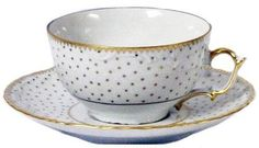 Anna Weatherley Simply Anna - Polka Gold Tea Cup