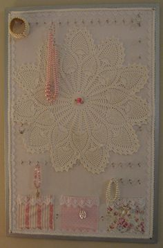 Pretty in Pink Shabby Chic Jewelry Display Board. $125.00, via Etsy.