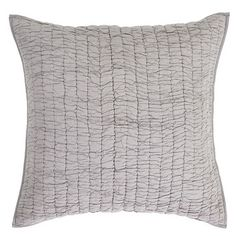 Our Rochelle Grey Quilted Euro Sham is a perfect accessory to  your Rochelle bedding. https://www.uptowncasual.com/products/rochelle-grey-quilted-euro-sham-26x26 #uptownquiltedbedding