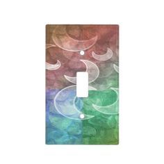 Pastel Stones N Crescent Moons Light Switch Cover