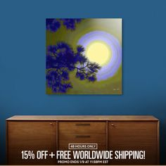 Discover «Harest Moon», Limited Edition Aluminum Print by Glink - From $65 - Curioos