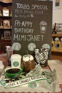 Starbucks party theme.