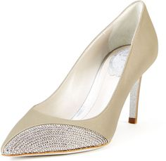 Crystal Accented Leather Pump