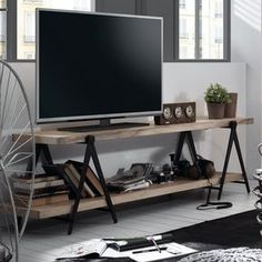 TV-Lowboard Linton TV-Lowboard Linton Mango massiv The post TV-Lowboard Linton appeared first on Esszimmer ideen. Diy Furniture Nightstand, Diy Furniture Tv Stand, Repurposed Furniture, Living Room Furniture, Cheap Furniture, Small Room Bedroom, Small Living Rooms, Home And Living, Tv Diy