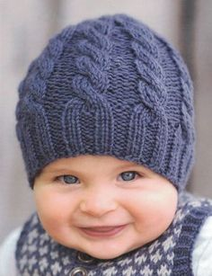 Baby Knitting Patterns For Kids Zopfmütze Knitted Hats Kids, Baby Hats Knitting, Crochet Baby Hats, Knitting For Kids, Baby Knitting Patterns, Crochet For Kids, Baby Patterns, Free Knitting, Crochet Patterns