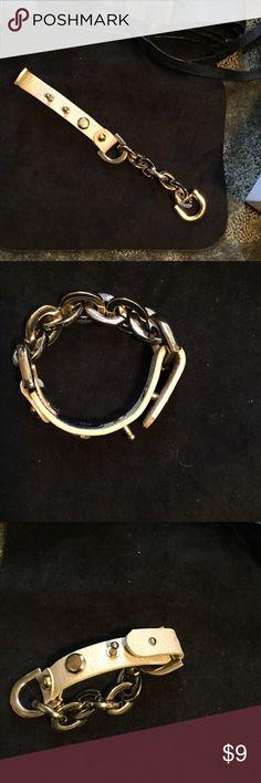 Leather wrap bracelet Cream leather wrap Jewelry Bracelets