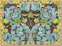 Beth Russell Acanthus and Vine Tapestry Hanging Kit £394.95 inc. VAT (sales tax) Approx US$ 592.43 The design measures 28 x 39 inches Contents: Printed canvas, wool, needle and full instructions. Beth Russell Acanthus and Vine Tapestry Rug Kit William Morris created this design for his first attempt at weaving. While his friends cynically referred to it as Cabbage and Vine, Beth Russell's interpretation acknowledges it as the true masterpiece that it is.