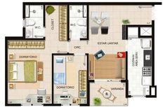 Plantas de Casas com Closet 6