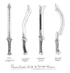 Osirion Swords by *butterfrog on deviantART