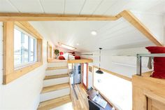 View From Loft - Modern Mountain by Tiny Heirloom