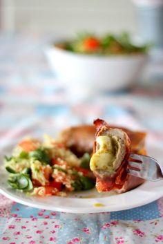 Polędwiczki wieprzowe z pesto i mozzarellą